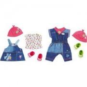 Дънкови дрешки за кукла, 2 различни модела, BABY Born, 790072