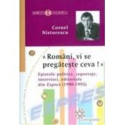 Romani vi se pregateste ceva - Cornel Nistorescu