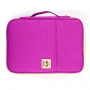 Office Supplies Multi-purpose Zipper Document Folder A4 Storage Bag (Purple)