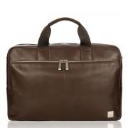 Knomo Amesbury Leather Briefcase Brown 15.6 inch