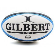 Gilbert Omega Match Rugby Ball Blue/Black Size 4