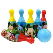 Disney Mickey bowling set packed in box for easy storage for kids/EN certified/sports toys for kids/ development toys/ outdoor toys for kids/multicolor toys(Colors may vary according to availability)