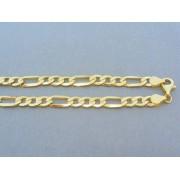 Zlatá retiazka v žltom zlate vzor figáro DR551596Z