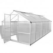 vidaXL Seră ranforsată din aluminiu, 10,53 m²