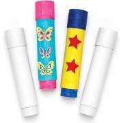 Ontwerp je eigen telescoop voor kinderen om te maken en versieren - Creatieve knutselset voor kinderen (2 stuks per verpakking)