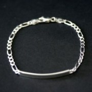Pulseira de Prata 925 Chapeado 4.5 cm de Comprimento 4 mm de Largura