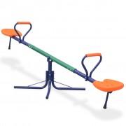 vidaXL Люлка везна въртяща се на 360-градуса, оранжеви седалки