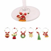 Christmas Wine Glass Decoration Charms Party New Year Cup Ring Table Decorations