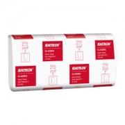 Metsä Tissue KATRIN Papierhandtücher Classic One Stop M 2, 25,5 x 20,0 cm, Hochwertiges Falthandtuch, 2-lagig, weiß, 1 Karton = 21 Packungen x 160 = 3360 Blatt