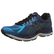 Asics Men's Gel-Cumulus 17 Island Blue, Black and Indigo Blue Running Shoes - 9 UK/India (44 EU) (10 US)