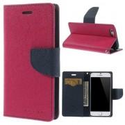 Mercury Etui portefeuille Mercury Goospery rose Etui iPhone 6 6s Cuir - Portefeuille