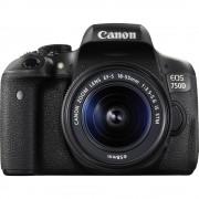 Digitalni fotoaparat EOS 750D Canon uklj. EF-S 18-55 mm IS STM 24.2 mil. piksela crna priključak za bljeskavicu, okretni, nagibn