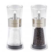 Комплект мелнички за сол и пипер COLE & MASON FLIP цвят инокс - 15.4 см