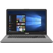 "Laptop Asus VivoBook Pro 17 N705UF-GC009 (Procesor Intel® Core™ i7-8550U (8M Cache, up to 4.0 GHz), Kaby Lake R, 17.3""FHD, 8GB, 1TB HDD @5400RPM + 128GB SSD, nVidia GeForce MX130 @2GB, Wireless AC, Tastatura Iluminata, FPR, Endless OS, Gri) + Geanta Lapto"