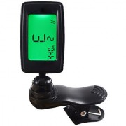 Futaba Chromatic Clip-On Digital Tuner For Acoustic Electric Guitar - Green