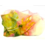 Blommig sjal Rosa-grön