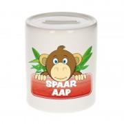 Bellatio Decorations Kinder cadeau spaarpot apen 9 cm
