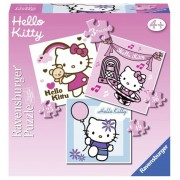 Puzzle 3 in 1 - Hello Kitty, 110 piese