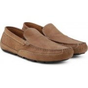 Clarks Ashmont Step Tan Nubuck Loafers For Men(Tan)
