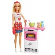Mattel Barbie Domowe Wypieki Zestaw + Lalka FHP57