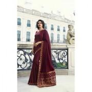 Indian Style Sarees New Arrivals Latest Women's Sana Silk Embroidered Saree With Blouse Bollywood Designer Jequard Saree