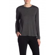 Catherine Catherine Malandrino Long Sleeve Terry Top DARK GREY