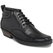 Shoegaro Men's Black Synthetic Leather Party Casual Boot