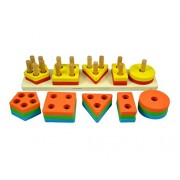 Multi Color Geometrical Shapes For Kids Learning Shape Sorter By Instabuyz