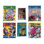 Super Color Coloring Books for Kids 4-Pack, Minions Favorite Book to Color Early Learning Activity Book, and 12...