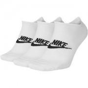 Nike Witte Essential No Show 3 pak mt 38-42