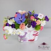 Aranjament floral Poseta cu Flori AF024