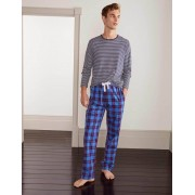 Boden Frühlingsblau/Magenta, Kariert Schlafanzughose aus Baumwollpopeline Herren Boden, S, Blue