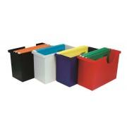Függőmappa tároló, műanyag, 5 db függőmappával, DONAU, szürke (D7422SZ)