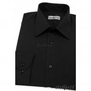 Pánská košile KLASIK s dlouhým rukávem černá 451-23-36/182