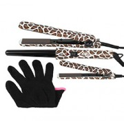 LIMITED EDITION FULL 3 PIECE SET with MINI HAIR STRAIGHTENER (Giraffe)