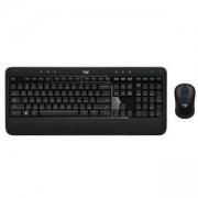 Клавиатура и мишка Logitech Advanced Combo Wireless Keyboard and Mouse, черен, 920-008806