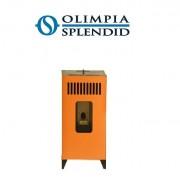 Olimpia Splendid Stufa A Pellet Olimpia Splendid Mia Vertical 9 Kw - 110 Mq Colore Arancio