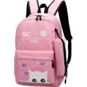 Qushi Preppy Style Fashion Waterproof Women Girls Backpack Korean Design travel College Office Bag 30 L Laptop Backpack(Pink)