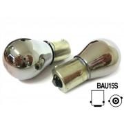 2 ampoules PY21W BAU15S S25 clignotant Chrome - orange