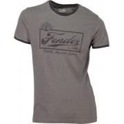 Fender T-Shirt Ringer Dark Grey S
