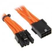 Cablu prelungitor BitFenix Alchemy 6+2-pini PCIe, 45cm, orange/black, BFA-MSC-62PEG45OK-RP
