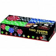 Комплект 100 покер чипа Модиано