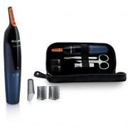 Trimmer pentru nas/urechi NT5180/15, Kit calatorie, Negru / Albastru