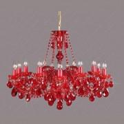 Lustra 12 brate cristal Bohemia L11 120/12/1 all ruby