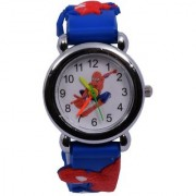 6th Dimensions Spider-Man Kids Watch Blue with Free 1 Smiley Ball Key Ring for Kids