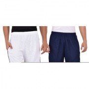 Pack of 2 Knee Length Shorts (Navy Blue and White)