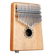 17 Keys EQ C Tone Mahogany Kalimba Thumb Piano Finger Percussion with Pickup