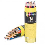 Colored Pencil Drawing Set of 36 8BEES GIFT Water Soluble Color Pencil Set with Case Assorted Colors for Adult/Kids Coloring Books, Drawing