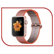 Умные часы APPLE Watch Series 2 42mm Pink Gold with Orange Space-Anthracite Band MNPM2RU/A
