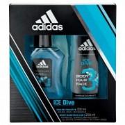 Adidas Ice Dive 100 ml EDT + 250 ml SG Pánská dárková sada